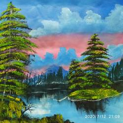 nature, 20 x 15 inch, sujitha  sreeramula chengalrayan,20x15inch,canvas,paintings,nature paintings | scenery paintings,paintings for dining room,paintings for living room,paintings for bedroom,paintings for office,paintings for kids room,paintings for hotel,paintings for school,paintings for hospital,acrylic color,GAL02189834107