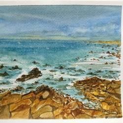 17 mile drive california , 9 x 7 inch, anuradha singh,9x7inch,renaissance watercolor paper,paintings,landscape paintings,paintings for dining room,paintings for living room,paintings for bedroom,paintings for office,paintings for hotel,watercolor,GAL02219034112