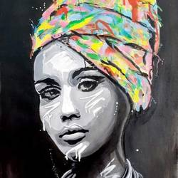 painting african traditional, cultural, emotional , 15 x 22 inch, achla sarin,15x22inch,canvas,paintings,portrait paintings,paintings for dining room,paintings for living room,paintings for bedroom,paintings for hotel,paintings for school,paintings for hospital,acrylic color,GAL02224334124
