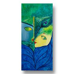 classic krishna acrylic   (vertical stretched canvas), 12 x 24 inch, khushboo  shah,12x24inch,canvas,radha krishna paintings,paintings for living room,paintings for office,paintings for hotel,paintings for living room,paintings for office,paintings for hotel,acrylic color,GAL02167234166