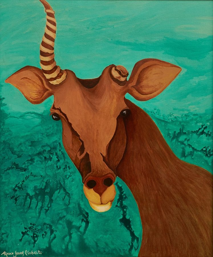 the victor, 32 x 36 inch, alphonse joseph  pinheiro,paintings for living room,wildlife paintings,animal paintings,canvas,acrylic color,32x36inch,GAL012273417
