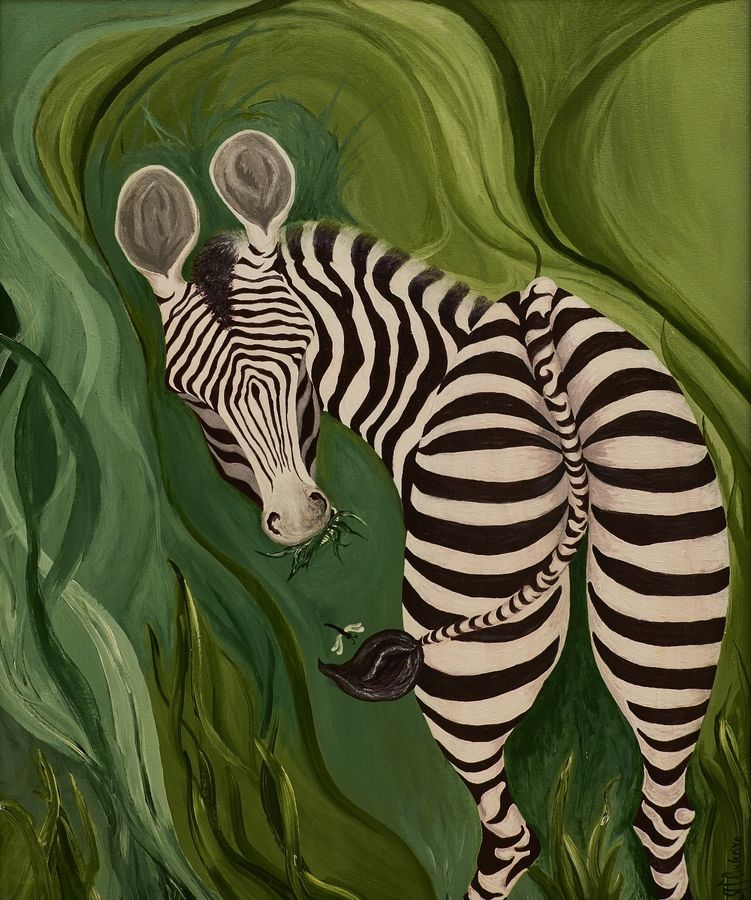 green pastures, 32 x 36 inch, alphonse joseph  pinheiro,wildlife paintings,paintings for dining room,animal paintings,canvas,acrylic color,32x36inch,GAL012273419