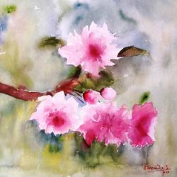 flower 2020_16, 15 x 11 inch, anamika s,15x11inch,paper,paintings,flower paintings,still life paintings,nature paintings | scenery paintings,paintings for dining room,paintings for living room,watercolor,GAL0414534194