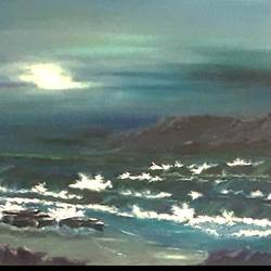 nature , 24 x 16 inch, diptonil banerjee,24x16inch,canvas board,paintings,nature paintings   scenery paintings,oil color,GAL01103234201