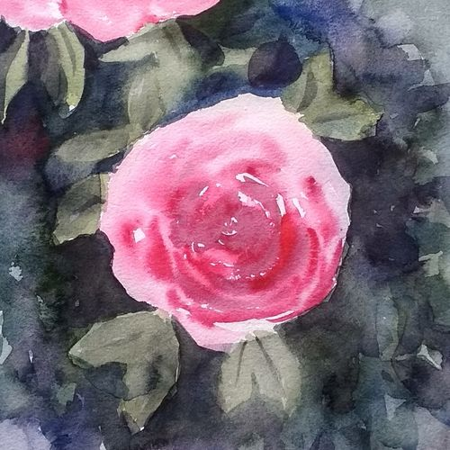 flower 2020_22, 11 x 15 inch, anamika s,11x15inch,paper,paintings,flower paintings,still life paintings,nature paintings | scenery paintings,paintings for dining room,paintings for living room,paintings for bedroom,paintings for hotel,paintings for school,paintings for hospital,paper,GAL0414534203