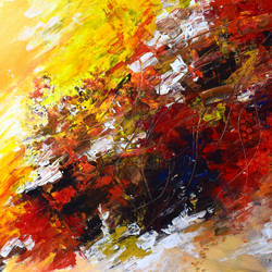 fiery passion, 24 x 20 inch, swagata singha,24x20inch,canvas,abstract paintings,abstract expressionism paintings,paintings for living room,paintings for living room,acrylic color,GAL02233634204