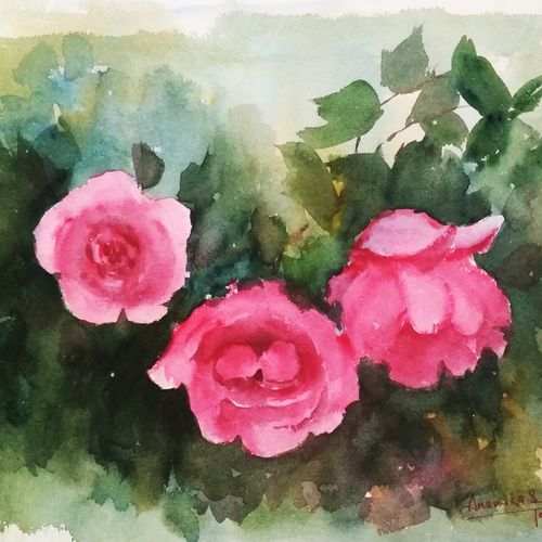 flower 2020_23, 15 x 11 inch, anamika s,15x11inch,paper,paintings,flower paintings,still life paintings,nature paintings | scenery paintings,paintings for dining room,paintings for living room,paintings for bedroom,paintings for hotel,paintings for hospital,watercolor,GAL0414534213