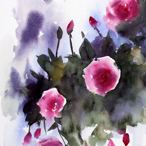 flower 2020_26, 11 x 15 inch, anamika s,11x15inch,paper,paintings,flower paintings,still life paintings,nature paintings | scenery paintings,paintings for dining room,paintings for living room,paintings for bedroom,paintings for office,paintings for hotel,paintings for school,paintings for hospital,watercolor,GAL0414534220