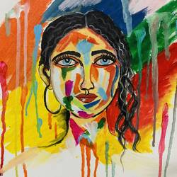 the splash of colours, 12 x 16 inch, amelia ghosh,12x16inch,canvas,paintings,modern art paintings,portrait paintings,acrylic color,GAL02178034222