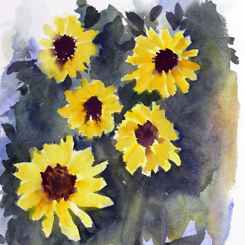 flower 2020_27, 11 x 15 inch, anamika s,11x15inch,paper,paintings,flower paintings,still life paintings,nature paintings | scenery paintings,paintings for dining room,paintings for living room,paintings for bedroom,paintings for office,paintings for hospital,watercolor,GAL0414534223
