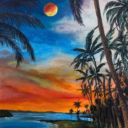 evening beach, 10 x 12 inch, akansha singh,10x12inch,canvas,paintings,landscape paintings,nature paintings | scenery paintings,realism paintings,realistic paintings,water fountain paintings,paintings for dining room,paintings for living room,paintings for bedroom,paintings for office,paintings for bathroom,paintings for kids room,paintings for hotel,paintings for school,paintings for hospital,acrylic color,GAL02164034252