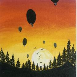sunny baloons, 5 x 12 inch, akansha singh,5x12inch,canvas,paintings,landscape paintings,conceptual paintings,nature paintings | scenery paintings,art deco paintings,pop art paintings,surrealism paintings,baby paintings,kids paintings,paintings for dining room,paintings for living room,paintings for office,paintings for kids room,paintings for hotel,paintings for school,paintings for hospital,acrylic color,GAL02164034253