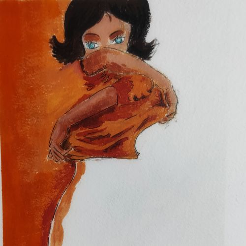 implicated, 6 x 8 inch, soumyajit sanyal,6x8inch,thick paper,abstract paintings,figurative paintings,conceptual paintings,portrait paintings,minimalist paintings,paintings for dining room,paintings for living room,paintings for bedroom,paintings for office,paintings for bathroom,paintings for kids room,paintings for hotel,paintings for kitchen,paintings for school,paintings for hospital,paintings for dining room,paintings for living room,paintings for bedroom,paintings for office,paintings for bathroom,paintings for kids room,paintings for hotel,paintings for kitchen,paintings for school,paintings for hospital,acrylic color,paper,GAL02082634255