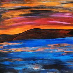 landscape 'eternal', 12 x 8 inch, nitasha luthra,12x8inch,thick paper,paintings,landscape paintings,paintings for dining room,paintings for living room,paintings for bedroom,paintings for office,paintings for bathroom,paintings for kids room,paintings for hotel,paintings for kitchen,paintings for school,paintings for hospital,acrylic color,paper,GAL02210034273