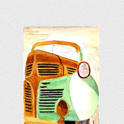 rustic car, 20 x 27 inch, sachin wazalwar,20x27inch,canvas,paintings,modern art paintings,portraiture,paintings for office,paintings for kids room,paintings for hotel,mixed media,watercolor,GAL02241434290