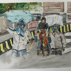 out in the streets of unknown city, 16 x 11 inch, surabhi g,16x11inch,brustro watercolor paper,paintings,landscape paintings,conceptual paintings,still life paintings,photorealism paintings,realism paintings,street art,paintings for dining room,paintings for living room,paintings for bedroom,paintings for office,paintings for hotel,paintings for kitchen,paintings for school,paintings for hospital,watercolor,paper,GAL02240634299