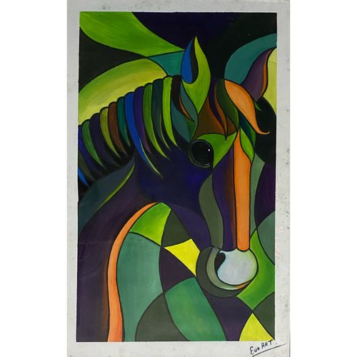 horse painting , 18 x 28 inch, rennie eva  lall,18x28inch,canvas,paintings,horse paintings,paintings for dining room,paintings for living room,paintings for bedroom,paintings for office,paintings for bathroom,paintings for kids room,paintings for hotel,paintings for kitchen,paintings for school,paintings for hospital,acrylic color,GAL02165934311