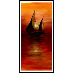 rise and shine , 22 x 45 inch, rennie eva  lall,22x45inch,canvas,paintings,landscape paintings,modern art paintings,nature paintings | scenery paintings,surrealism paintings,paintings for dining room,paintings for living room,paintings for bedroom,paintings for office,paintings for bathroom,paintings for kids room,paintings for hotel,paintings for kitchen,paintings for school,paintings for hospital,acrylic color,GAL02165934321