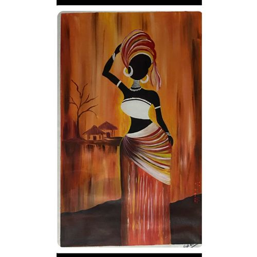tribal african women painting, 20 x 29 inch, rennie eva  lall,20x29inch,canvas,paintings,figurative paintings,modern art paintings,art deco paintings,paintings for dining room,paintings for living room,paintings for bedroom,paintings for hotel,paintings for kitchen,acrylic color,GAL02165934323