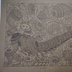 parrot in fine traditional art work , 16 x 21 inch, harikrishnan g,16x21inch,thick paper,drawings,fine art drawings,illustration drawings,paintings for office,paintings for hotel,pen color,GAL02232634325
