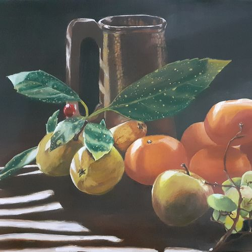 bunch of health, 22 x 15 inch, surabhi  singh ,22x15inch,oil sheet,paintings,still life paintings,nature paintings | scenery paintings,art deco paintings,realism paintings,realistic paintings,paintings for dining room,paintings for living room,paintings for office,paintings for hotel,paintings for kitchen,paintings for hospital,acrylic color,GAL01950534369
