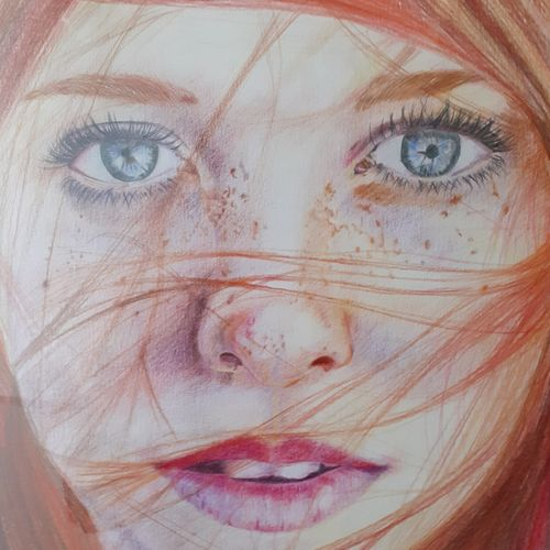 dreamer, 11 x 14 inch, surabhi  singh ,11x14inch,cartridge paper,portrait paintings,expressionism paintings,photorealism,paintings for living room,paintings for bedroom,paintings for hotel,paintings for living room,paintings for bedroom,paintings for hotel,pencil color,GAL01950534373