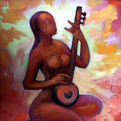 tune, 14 x 18 inch, soumen das,14x18inch,canvas,paintings,abstract paintings,acrylic color,GAL02253134380