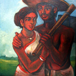 farmer, 20 x 24 inch, soumen das,20x24inch,canvas,paintings,abstract paintings,acrylic color,GAL02253134389