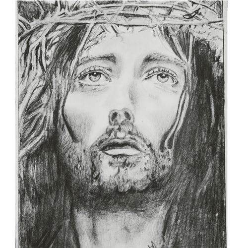 passion of the christ , 8 x 12 inch, infancy carmelica,8x12inch,drawing paper,drawings,expressionism drawings,figurative drawings,photorealism drawings,portrait drawings,paintings for dining room,paintings for living room,paintings for hotel,paintings for school,paintings for hospital,charcoal,graphite pencil,paper,GAL02253234397