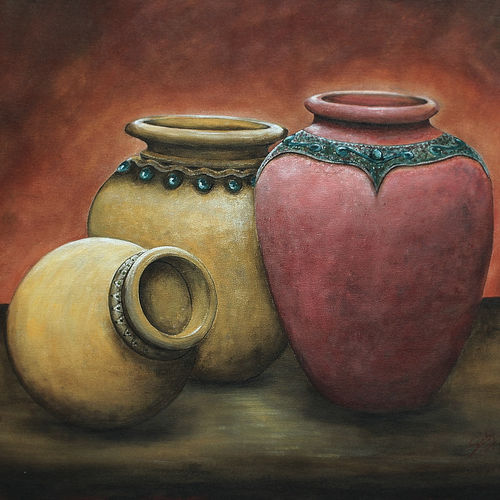 the family, 30 x 24 inch, seby augustine,still life paintings,paintings for living room,canvas,acrylic color,30x24inch,GAL0150344
