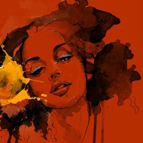 orange women-1, 20 x 25 inch, ashi  chaudhary ,modern art paintings,paintings for bedroom,canvas,acrylic color,20x25inch,GAL08923440