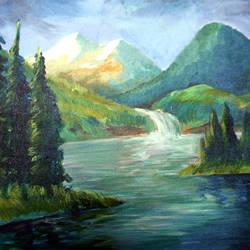nature, 16 x 20 inch, soumen das,16x20inch,canvas,paintings,abstract paintings,acrylic color,GAL02253134402