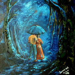 blue heaven, 16 x 20 inch, soumen das,16x20inch,canvas,abstract paintings,acrylic color,GAL02253134407