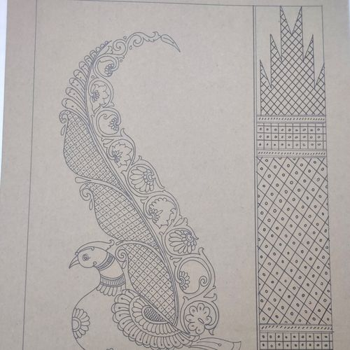 long tailed peacock with traditional design, 16 x 21 inch, harikrishnan g,16x21inch,thick paper,drawings,paintings for hotel,paintings for school,fine art drawings,illustration drawings,paintings for hotel,paintings for school,pen color,GAL02232634423