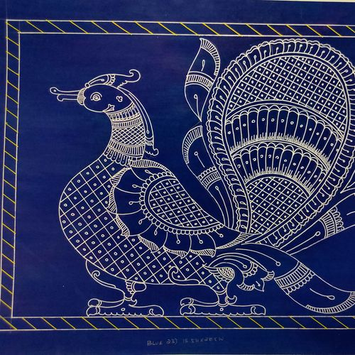 annapparavai with silver lining , 21 x 16 inch, harikrishnan g,21x16inch,thick paper,drawings,art deco drawings,fine art drawings,illustration drawings,paintings for hotel,paintings for school,pastel color,pen color,GAL02232634426