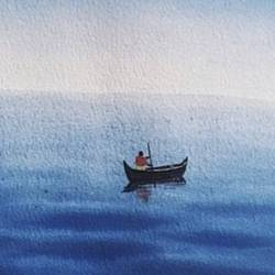 if there is no wind, row, 9 x 12 inch, shrushti s,9x12inch,brustro watercolor paper,paintings,still life paintings,paintings for dining room,paintings for living room,paintings for bedroom,paintings for office,paintings for bathroom,paintings for kids room,paintings for hotel,paintings for kitchen,paintings for school,paintings for hospital,watercolor,GAL02021634427