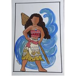 moana, 8 x 12 inch, damian gonsalves,8x12inch,paper,figurative paintings,watercolor,paper,GAL02253034447