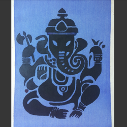 lord ganesha painting, 12 x 16 inch, praneetha rao,12x16inch,canvas,paintings,ganesha paintings | lord ganesh paintings,paintings for living room,paintings for office,paintings for hotel,watercolor,GAL02162934452