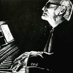 pianist (ludovico einaudi), 12 x 10 inch, vikas bahuguna,12x10inch,thick paper,drawings,illustration drawings,photorealism drawings,portrait drawings,graphite pencil,GAL0372634473