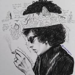musican (bob dylan) , 10 x 12 inch, vikas bahuguna,10x12inch,paper,drawings,abstract drawings,abstract expressionism drawings,conceptual drawings,fine art drawings,impressionist drawings,modern drawings,portrait drawings,charcoal,graphite pencil,GAL0372634476