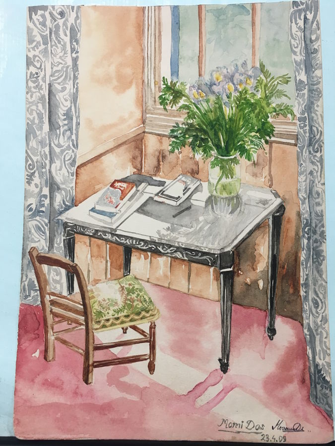 original handmade  for living room, 9 x 7 inch, shweta salunkhe,still life paintings,paintings for living room,thick paper,watercolor,9x7inch,GAL012773449