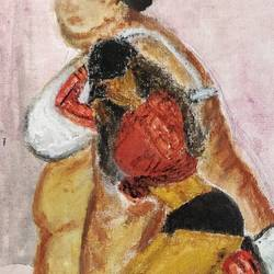 fit to fat to fit, 8 x 10 inch, anjana bora,8x10inch,canvas board,paintings,abstract paintings,figurative paintings,modern art paintings,conceptual paintings,abstract expressionism paintings,art deco paintings,illustration paintings,paintings for dining room,paintings for living room,paintings for bedroom,paintings for office,paintings for bathroom,paintings for kids room,paintings for hotel,paintings for kitchen,paintings for school,paintings for hospital,oil color,GAL02226234490