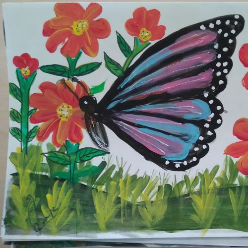 loving nature, 15 x 12 inch, janak  tank,15x12inch,ivory sheet,paintings,wildlife paintings,figurative paintings,flower paintings,cityscape paintings,conceptual paintings,animal paintings,paintings for dining room,paintings for bedroom,paintings for kids room,paintings for school,paintings for hospital,acrylic color,pastel color,pencil color,watercolor,GAL02138234504