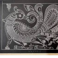 reverse faced annapparavai, 11 x 7 inch, harikrishnan g,11x7inch,thick paper,drawings,art deco drawings,expressionism drawings,fine art drawings,paintings for office,paintings for hotel,paintings for school,pen color,GAL02232634520
