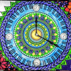 casio clock, 18 x 24 inch, tanya gupta,18x24inch,canvas,paintings,art deco paintings,paintings for dining room,paintings for living room,paintings for bedroom,paintings for office,paintings for hotel,acrylic color,pen color,paper,GAL02248234533