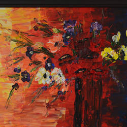 wild bouquet, 24 x 18 inch, anubha baluapuri,24x18inch,canvas,paintings,abstract paintings,flower paintings,contemporary paintings,paintings for dining room,paintings for living room,paintings for bedroom,paintings for office,paintings for hotel,acrylic color,GAL02259934540