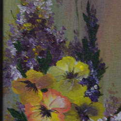wild flowers, 6 x 18 inch, anubha baluapuri,6x18inch,canvas,flower paintings,acrylic color,GAL02259934542