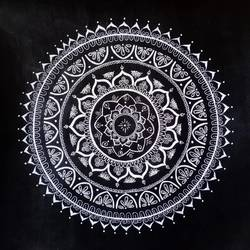 mandala, 12 x 12 inch, sonali gaitonde,12x12inch,drawing paper,drawings,abstract drawings,art deco drawings,fine art drawings,paintings for dining room,paintings for living room,paintings for bedroom,paintings for hotel,acrylic color,pen color,paper,GAL02260634552