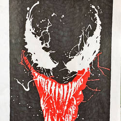 venom, 8 x 12 inch, kiran kishore,8x12inch,drawing paper,paintings,portrait paintings,paintings for kids room,pen color,ball point pen,paper,GAL02263334572