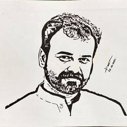 kunchako boban, 12 x 8 inch, kiran kishore,12x8inch,drawing paper,drawings,portrait drawings,paintings for dining room,paintings for living room,paintings for bedroom,paintings for office,pen color,ball point pen,paper,GAL02263334577